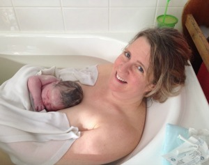 Homebirth in the bath